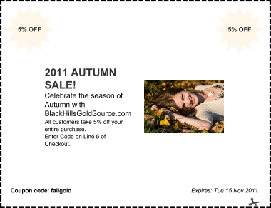 Fall Sale Coupon