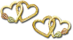 Black Hills Gold Dual Heart Earrings