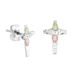 Sterling Silver Cross Earrings for Pierced Ears