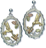 Sterling Silver Hummingbird Earrings for Pierced Ears