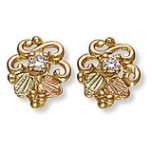 Black Hills Gold Diamond Earrings