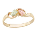 Black Hills Gold Childrens Ring with Leaves