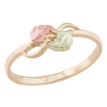 Ladies Black Hills Gold Ring with Leaves