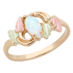 Black Hills Gold Ladies Ring with Opal