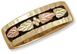 A3. Ladies Black Hills Gold Antique Wedding Band