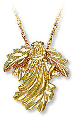 Black Hills Gold Angel Pendant