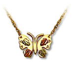 Black Hills Gold Butterfly Pendant