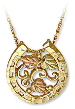 Black Hills Gold Horseshoe Pendant