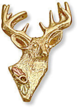 Black Hills Gold Deer Tie Tack / Lapel Pin