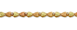 Black Hills Gold Diamond Bracelet with Leaves
