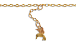 Black Hills Gold Hummingbird Ankle Bracelet