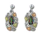 Mystic Fire Topaz Earrings, in Sterling Black Hills Silver