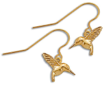 Black Hills Gold Hummingbird Earrings