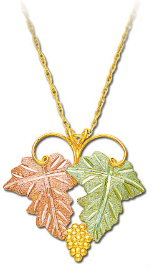 Classic Black Hills Gold Pendant with Leaves
