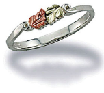 Black Hills Silver Childrens Ring with Leaves