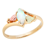 Ladies Black Hills Gold Opal Ring