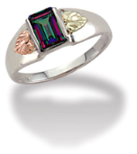 Ladies Mystic Fire Topaz Ring, in Sterling Black Hills Silver