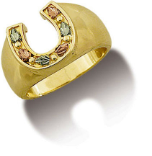 Ladies Black Hills Gold Horseshoe Ring