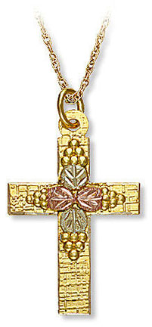 Black Hills Gold Cross Pendant