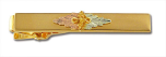Black Hills Gold Tie Bar with Leaves and Grape Clusters