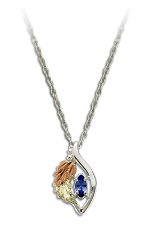 Sterling Black Hills Silver Tanzanite Pendant