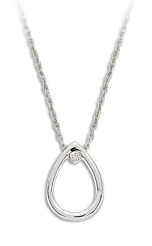 A. Sterling Silver Diamond Pendant