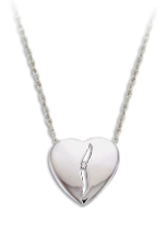 B. Sterling Silver Diamond Heart Pendant