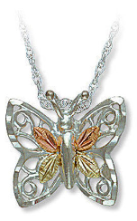 Black Hills Silver Butterfly Pendant