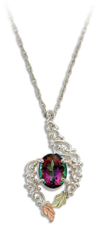 Mystic Fire Topaz Pendant, in Sterling Black Hills Silver