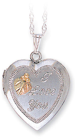"Sterling Silver Mothers ""I Love You"" Heart Locket"