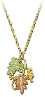 Black Hills Gold Pendant with Leaves