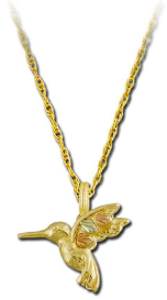 Black Hills Gold Hummingbird Pendant