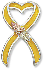 Support America Yellow Ribbon Tie Tack / Lapel Pin