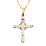 Black Hills Gold Crucifix Pendant