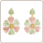 Black Hills Gold Classic Snowflake Earrings for Pierced Ears (SKU: 01287)