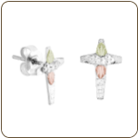 Sterling Silver Cross Earrings for Pierced Ears (SKU: 01311SS)