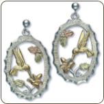 Sterling Silver Hummingbird Earrings for Pierced Ears (SKU: 01596SS)
