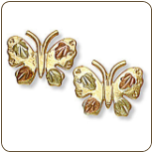 Black Hills Gold Butterfly Earrings (SKU: 01646-10K)