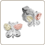 Black Hills Silver Butterfly Earrings (SKU: 01668SS)