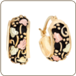 Black Hills Gold Antiqued Earwire Earrings for Pierced Ears (SKU: 01707)