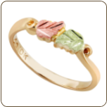 Black Hills Gold Childrens Ring with Leaves (SKU: 02248)