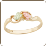 Black Hills Gold Childrens Ring with Leaves (SKU: 02259)