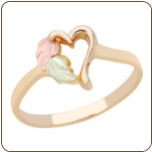 Black Hills Gold Ladies Heart Ring (SKU: 02262)