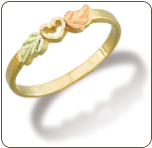 Black Hills Gold Ladies Heart Ring (SKU: 02300)