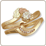T. Ladies Black Hills Gold Wedding Set with Engagement Ring (SKU: 02541SD)