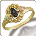 Ladies Mystic Fire Topaz Ring, Black Hills Gold (SKU: 02789-471)