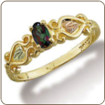 Ladies Mystic Fire Topaz Ring, Black Hills Gold (SKU: 02790-471)
