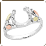 Ladies Black Hills Silver Horseshoe Ring (SKU: 02910SS)