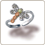 Sterling Silver Dragonfly Toe Ring (SKU: 02934SS)