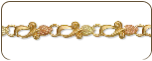 Black Hills Gold Bracelet with Leaves (SKU: 07050)